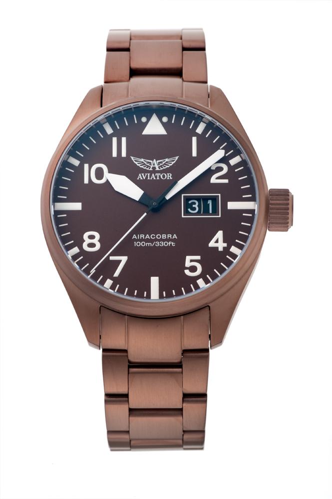 アビエイター AVIATOR V.1.22.8.151.5 エアラコブラ P42 クォーツ 正規品 腕時計