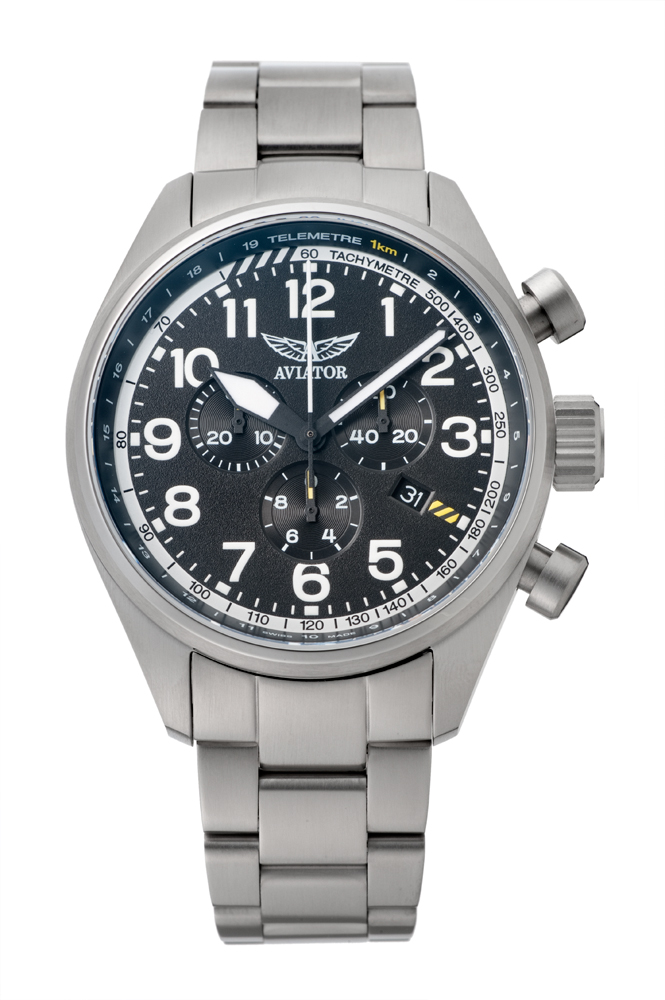 アビエイター AVIATOR V.2.25.0.169.5 エアラコブラ P45 クロノグラフ クォーツ 正規品 腕時計
