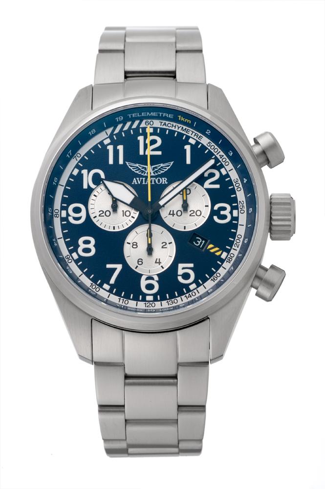 アビエイター AVIATOR V.2.25.0.170.5 エアラコブラ P45 クロノグラフ クォーツ 正規品 腕時計