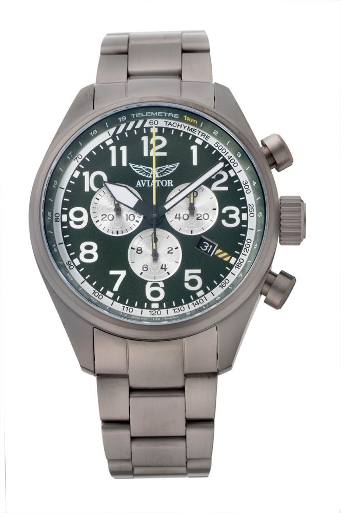 アビエイター AVIATOR V.2.25.7.171.5 エアラコブラ P45 クロノグラフ クォーツ 正規品 腕時計
