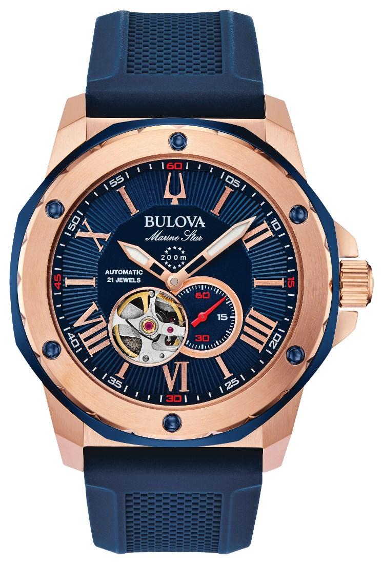 【5/10までオリジナルトラベルクロックをプレゼント】 ブローバ BULOVA 98A227 マリーンスター オートマチック 正規品 腕時計
