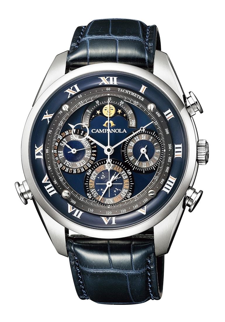 正規メーカー延長保証付き 正規品 CITIZEN シチズン CAMPANOLA カンパノラ AH4080-01L グランド コンプリケーション 留紺(とまりこん) 漆塗り文字板 限定300本 腕時計