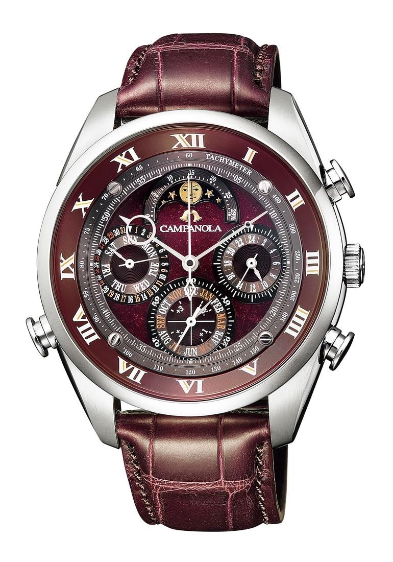 【今ならオリジナルペンケースをプレゼント】 カンパノラ CAMPANOLA シチズン 正規メーカー延長保証付き CITIZEN AH4080-01Z グランド コンプリケーション 深緋(こきあけ) 漆塗り文字板 正規品 腕時計