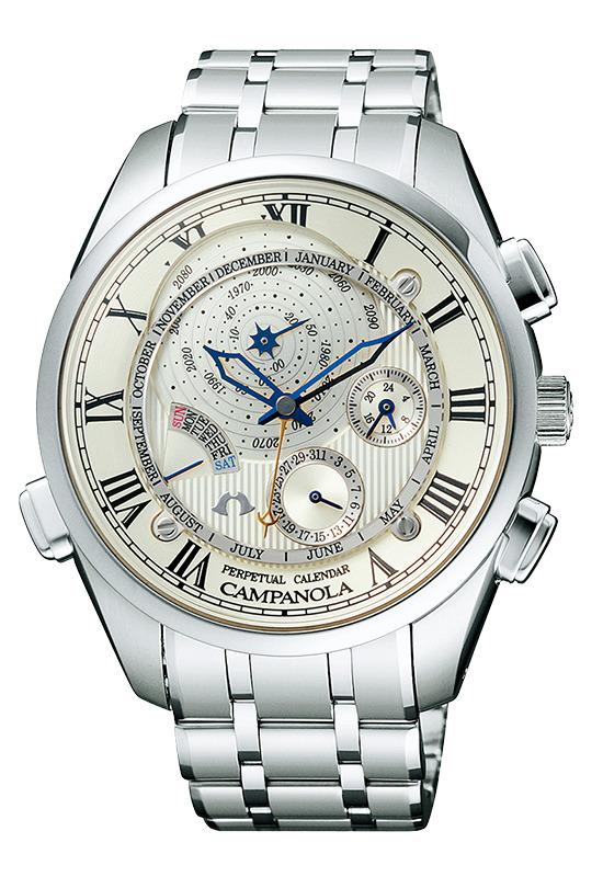 【今ならオリジナルペンケースをプレゼント】 カンパノラ CAMPANOLA シチズン 正規メーカー延長保証付き CITIZEN CTR57-0981 パーペチュアル カレンダー 正規品 腕時計