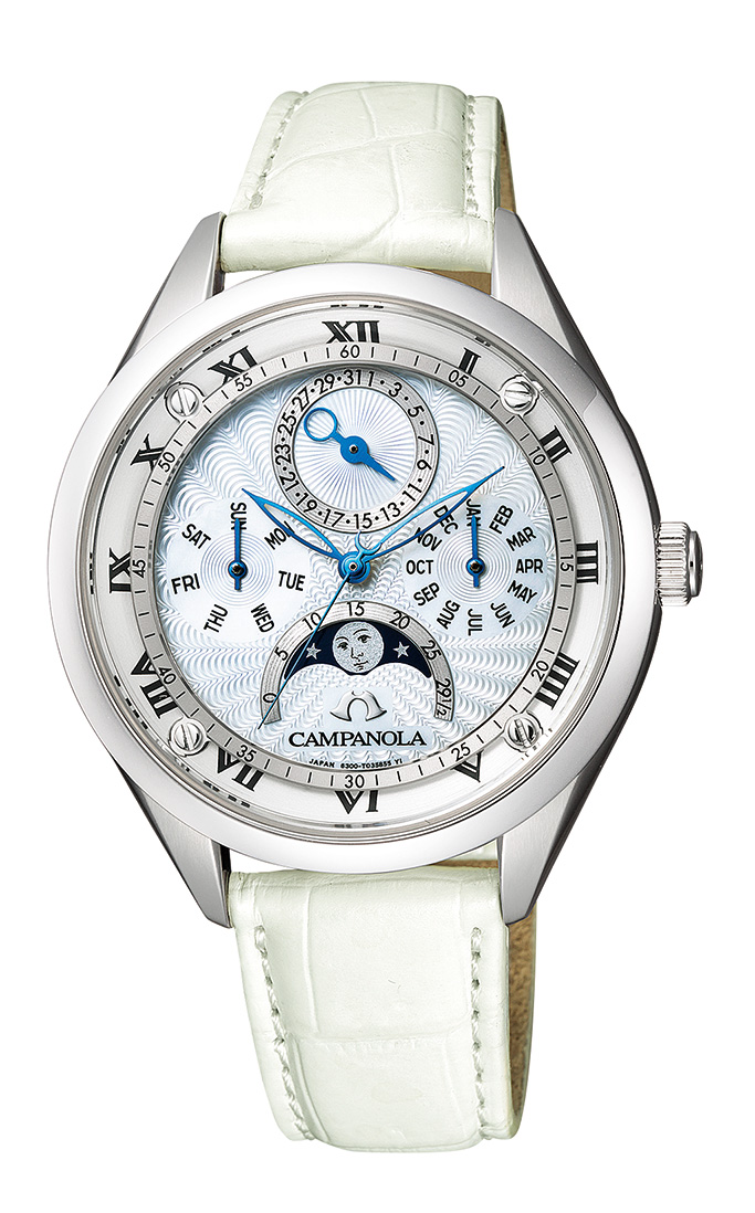 【今ならオリジナルペンケースをプレゼント】 カンパノラ CAMPANOLA シチズン 正規メーカー延長保証付き CITIZEN EC4000-11W ムーンフェイズ 限定170本 正規品 腕時計