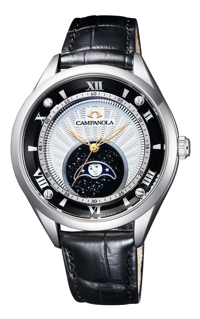 【今ならオリジナルペンケースをプレゼント】 カンパノラ CAMPANOLA シチズン 正規メーカー延長保証付き CITIZEN EZ2000-06A ムーンフェイズ 結弦(ゆづる) 正規品 腕時計