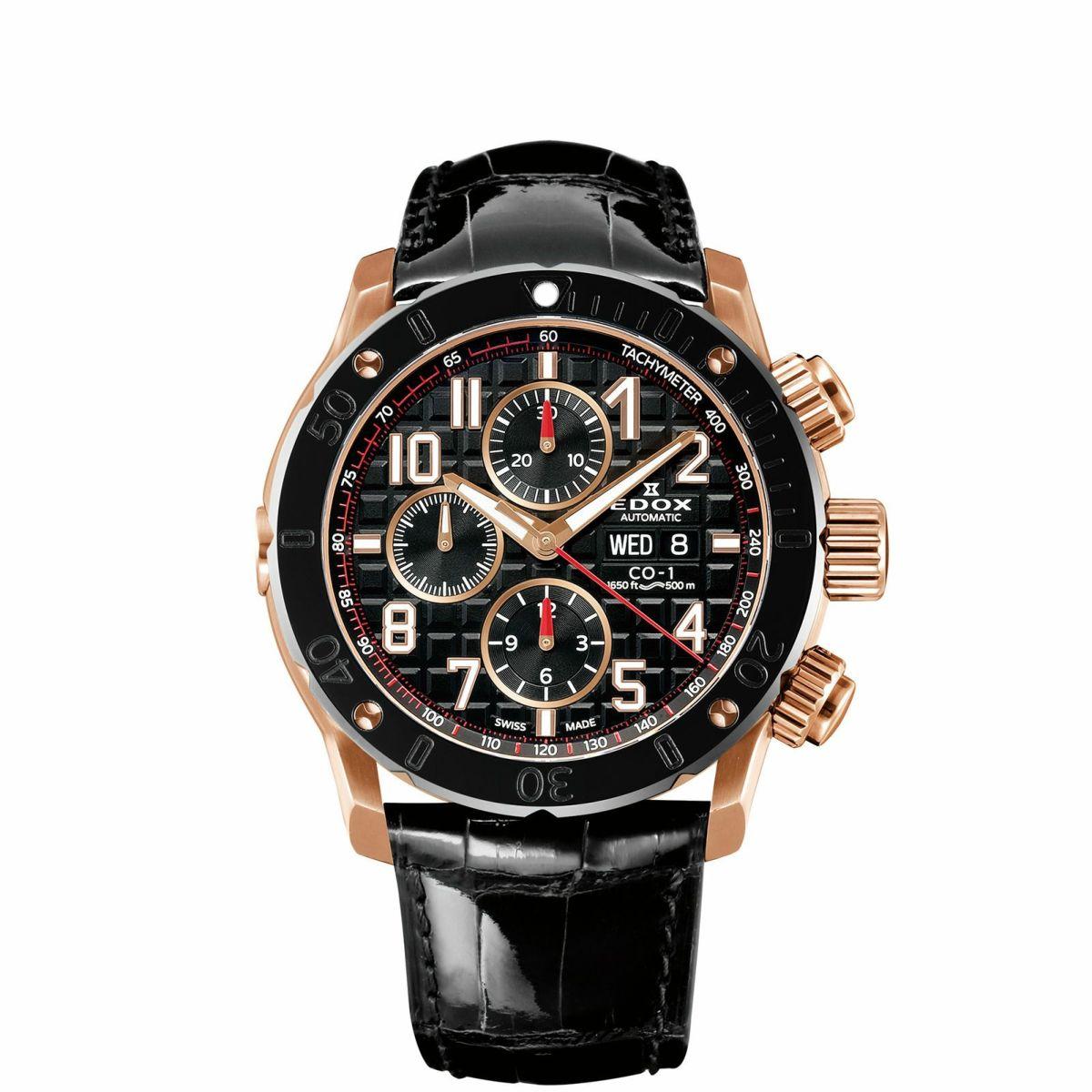 エドックス EDOX 01122-37R-NBR8 クロノオフショア1 クロノグラフ オートマチック 正規品 腕時計