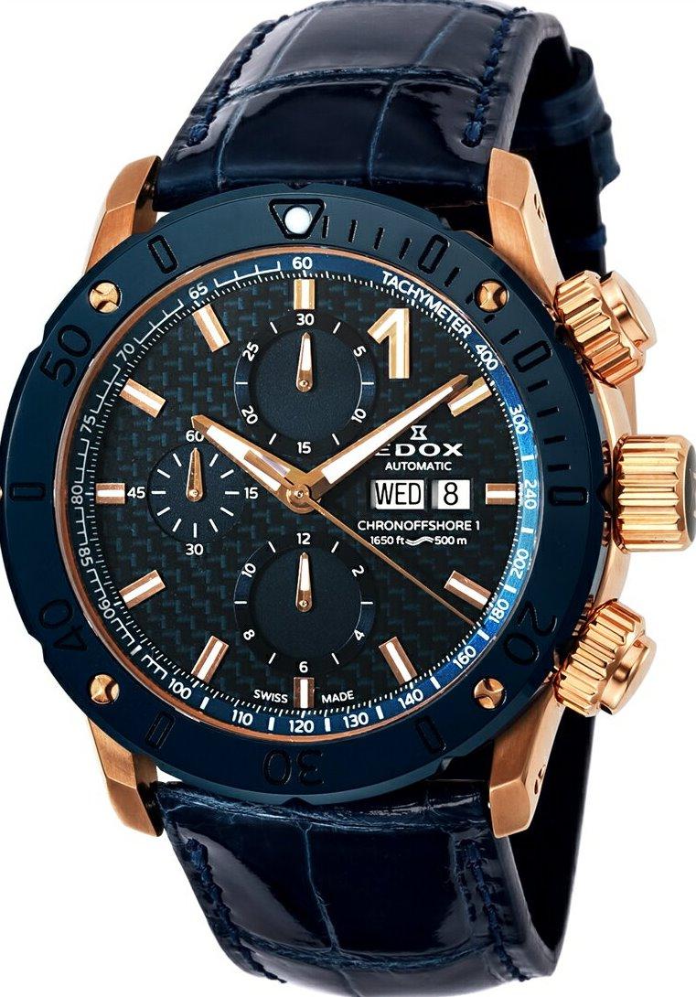 エドックス EDOX 01122-37RBU3-BUIR3-L クロノオフショア1 クロノグラフ オートマチック 正規品 腕時計