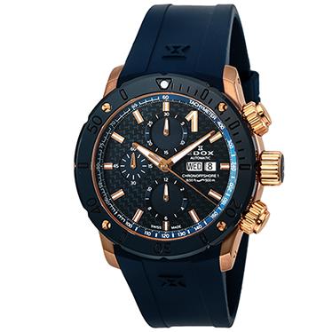 エドックス EDOX 01122-37RBU3-BUIR3 クロノオフショア1 クロノグラフ オートマチック 正規品 腕時計