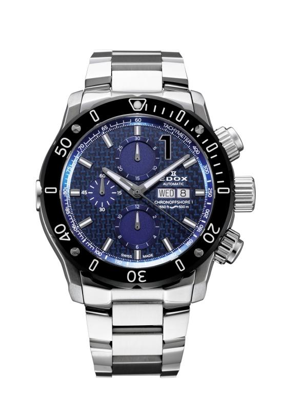 正規品 EDOX エドックス 01122-3M-BUIN1 クロノオフショア1 クロノグラフ オートマチック 腕時計