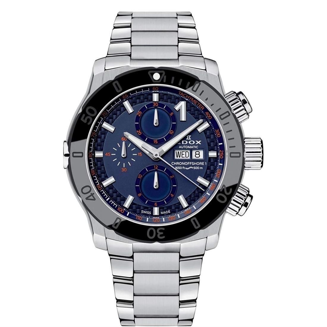 正規品 EDOX エドックス 01122-3NM-BUINO クロノオフショア1 クロノグラフ オートマチック 腕時計