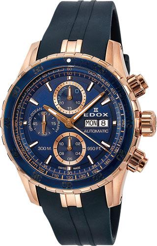 【5/26までオリジナルノベルティプレゼント】 正規品 EDOX エドックス 01123-37RBU5-BUIR5 グランドオーシャン クロノグラフ オートマチック 腕時計