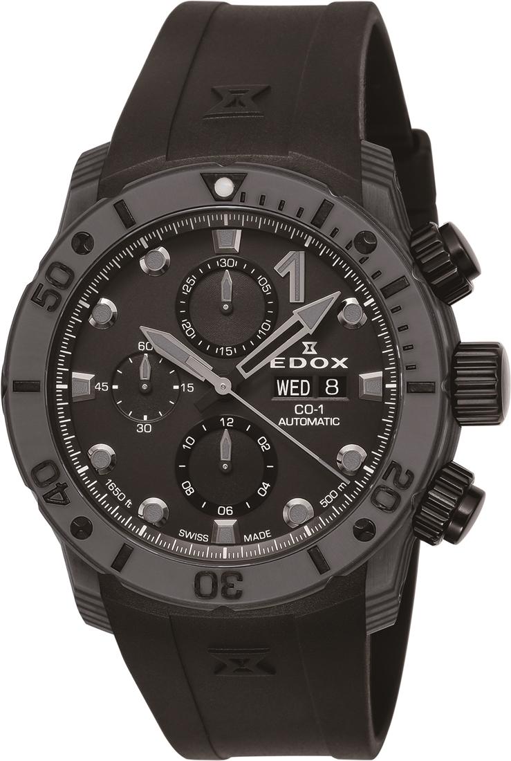 【5/26までオリジナルノベルティプレゼント】 正規品 EDOX エドックス 01125-CLNGN-NING クロノオフショア1 カーボン クロノグラフ オートマチック 腕時計