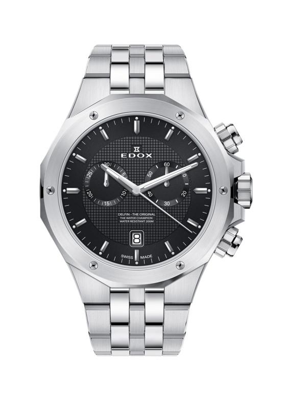おすすめ特集 正規品 送料無料 クォーツ メンズ クロノグラフ エドックス EDOX オリジナル デルフィン 10110-3M-NIN 腕時計 買い取り