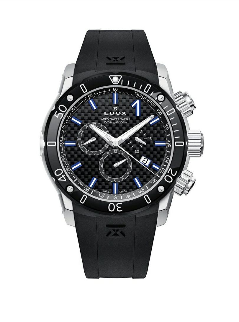 正規品 EDOX エドックス 10221-3-NIBU2 クロノオフショア1 クロノグラフ クォーツ 腕時計