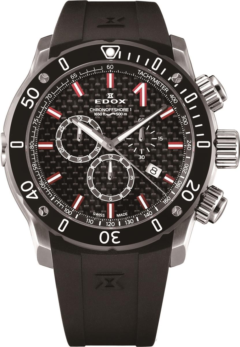 エドックス EDOX 10221-3-NIRO2 クロノオフショア1 クロノグラフ クォーツ 正規品 腕時計