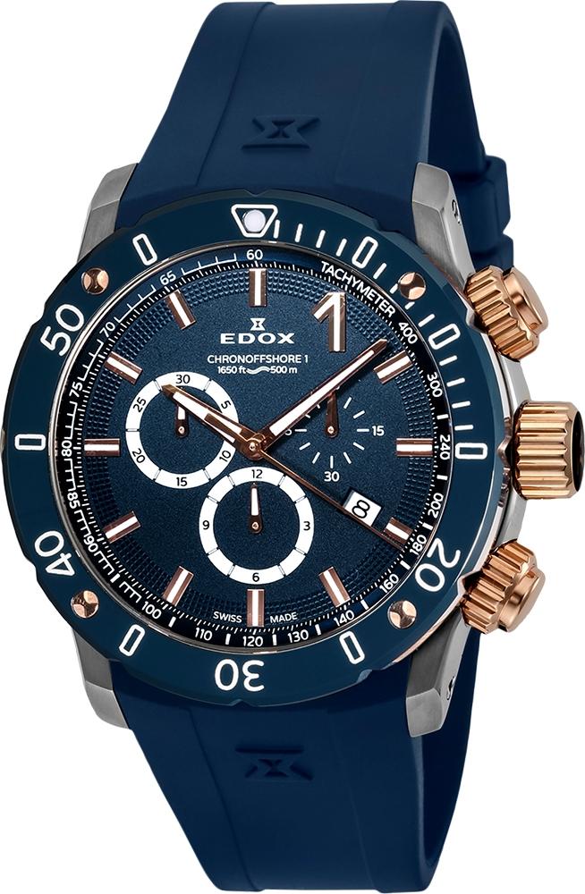 エドックス EDOX 10221-357RBU3-BUIR3 クロノオフショア1 クロノグラフ クォーツ 正規品 腕時計