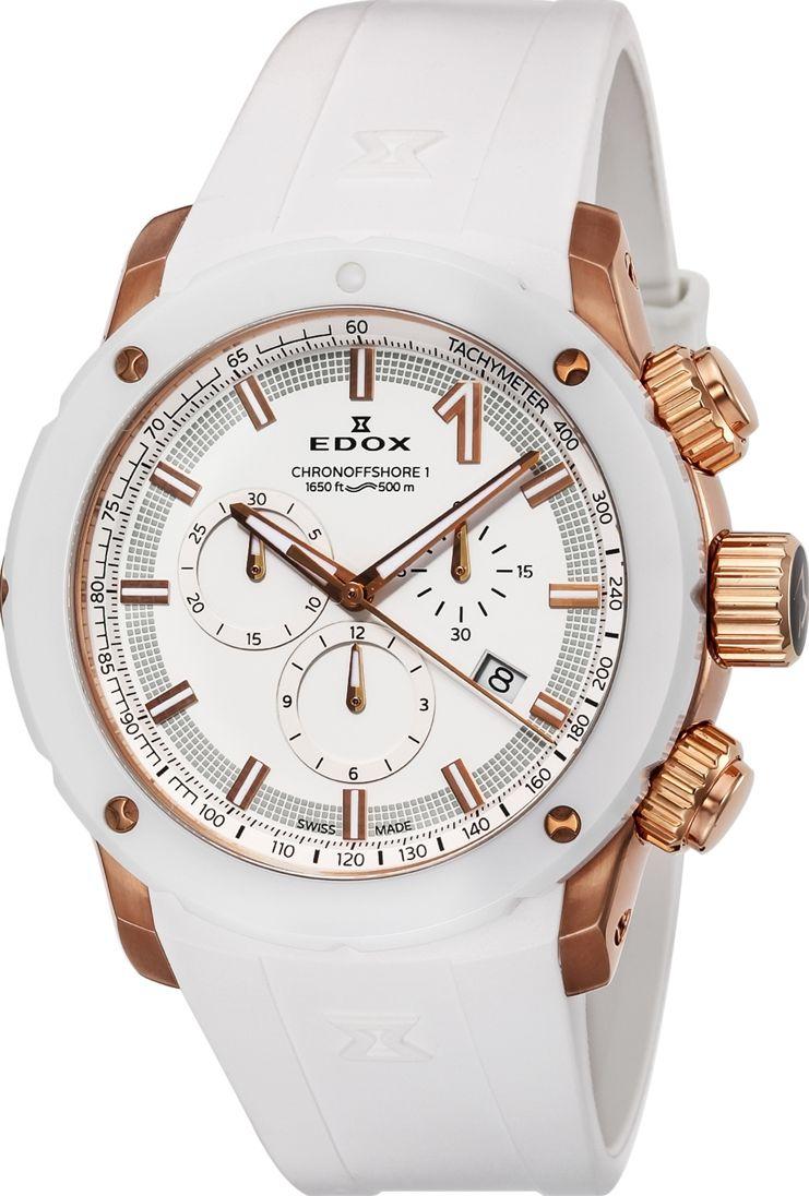 【5/26までオリジナルノベルティプレゼント】 正規品 EDOX エドックス 10221-37RB3-BIR3 クロノオフショア1 クロノグラフ クォーツ 腕時計