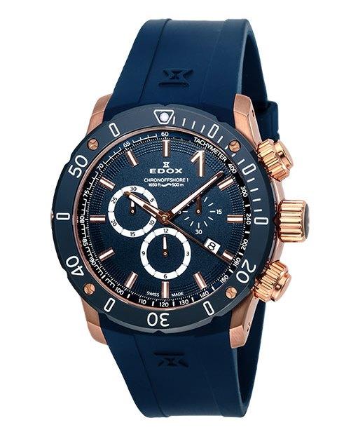 【5/26までオリジナルノベルティプレゼント】 正規品 EDOX エドックス 10221-37RBU3-BUIR3 クロノオフショア1 クロノグラフ クォーツ 腕時計