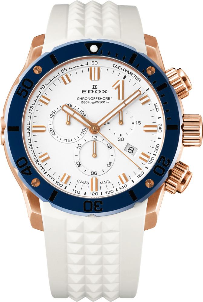 エドックス EDOX 10221-37RBU75-BIR7 クロノオフショア1 クロノグラフ クォーツ 正規品 腕時計