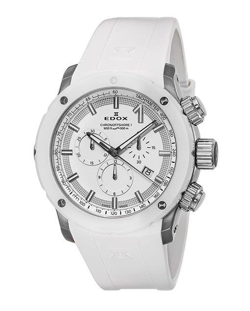 【5/26までオリジナルノベルティプレゼント】 正規品 EDOX エドックス 10221-3B3-BIN3 クロノオフショア1 クロノグラフ クォーツ 腕時計