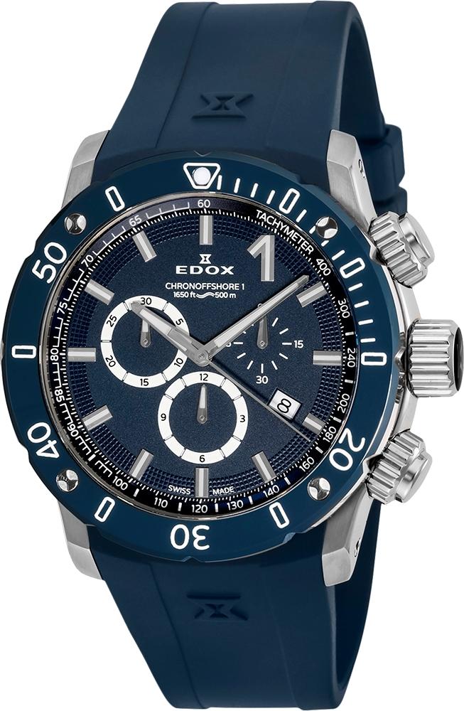 【5/26までオリジナルノベルティプレゼント】 正規品 EDOX エドックス 10221-3BU3-BUIN3 クロノオフショア1 クロノグラフ クォーツ 腕時計