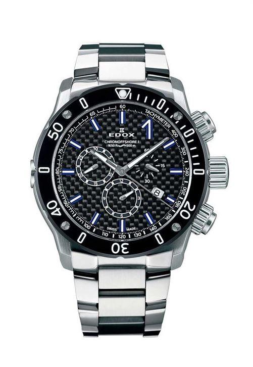 【5/26までオリジナルノベルティプレゼント】 正規品 EDOX エドックス 10221-3M-NIBU2 クロノオフショア1 クロノグラフ クォーツ 腕時計