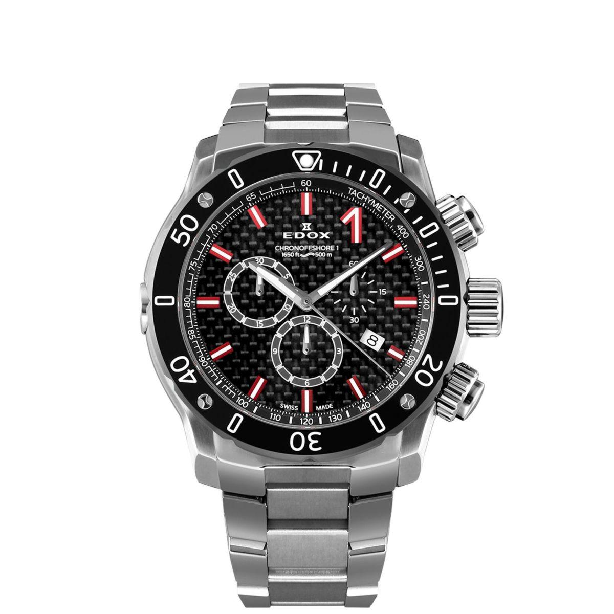 エドックス EDOX 10221-3M-NIRO2 クロノオフショア1 クロノグラフ クォーツ 正規品 腕時計