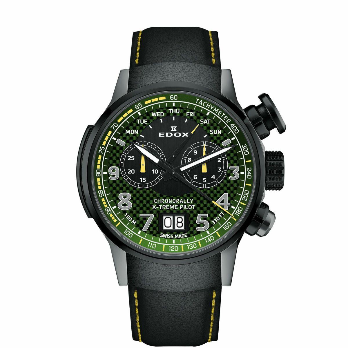 エドックス EDOX 38001-TINGN-V3 クロノラリー エクストリーム パイロット リミテッドエディション 世界限定555本 正規品 腕時計