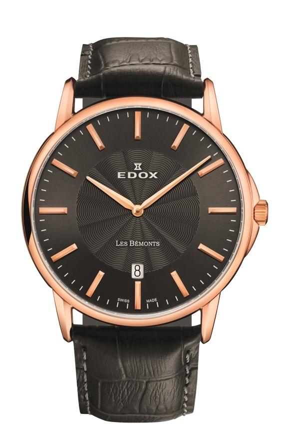 "EDOX 56001-37R-吉尔""Les Bemonts 日期"""