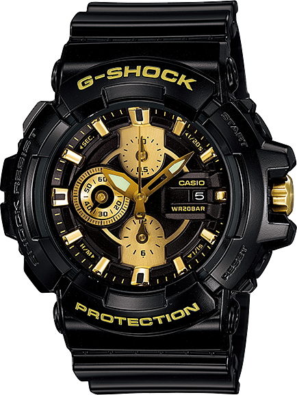 "CASIO g-shock GAC-100BR-1AJF ""Garish Gold Series"""