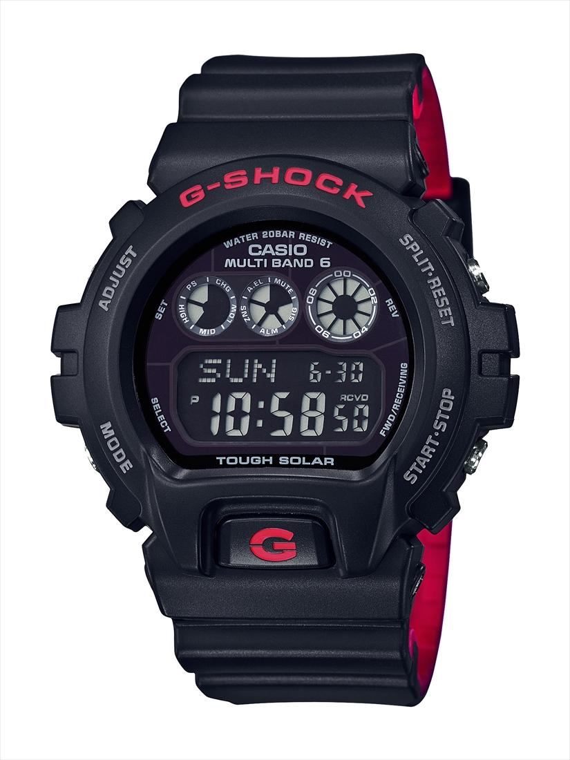 卡西欧 g-休克 GW-6900 HR-1JF 黑色与红色系列 (黑色和红色系列)