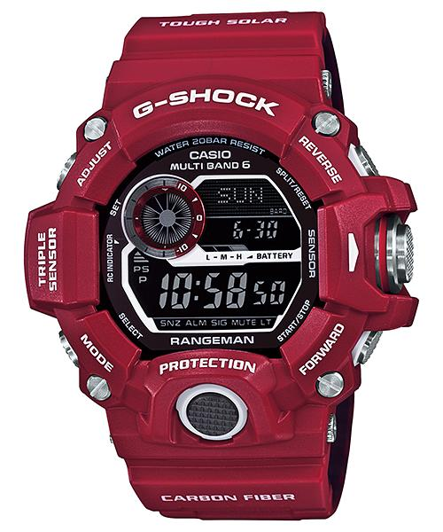 "CASIO G-SHOCK GW-9400RDJ-4JF""RANGEMAN MEN IN RESCUE RED(人·in·救援·红)"""