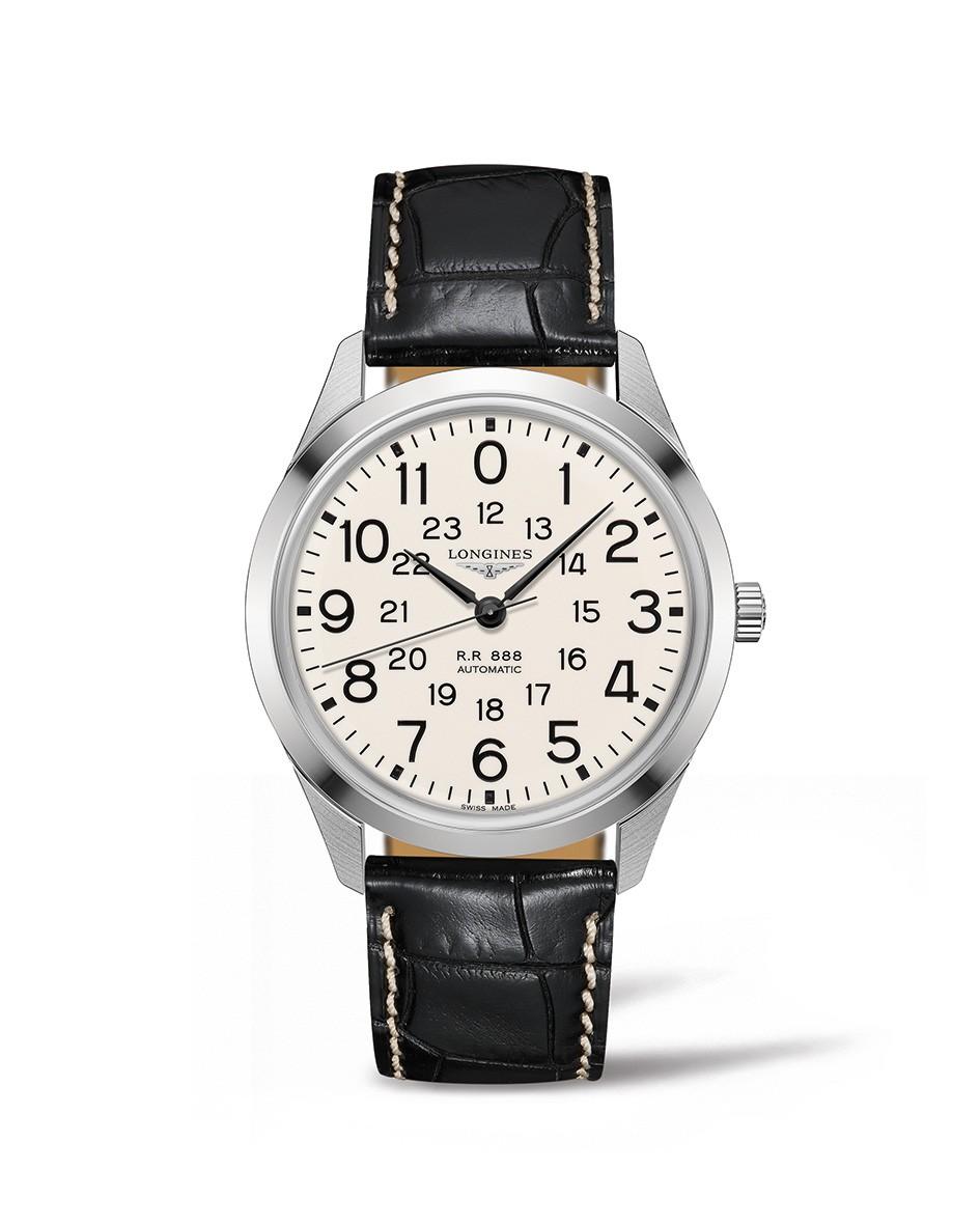 ロンジン LONGINES L2.803.4.23.0 ヘリテージ レイルロード 正規品 腕時計