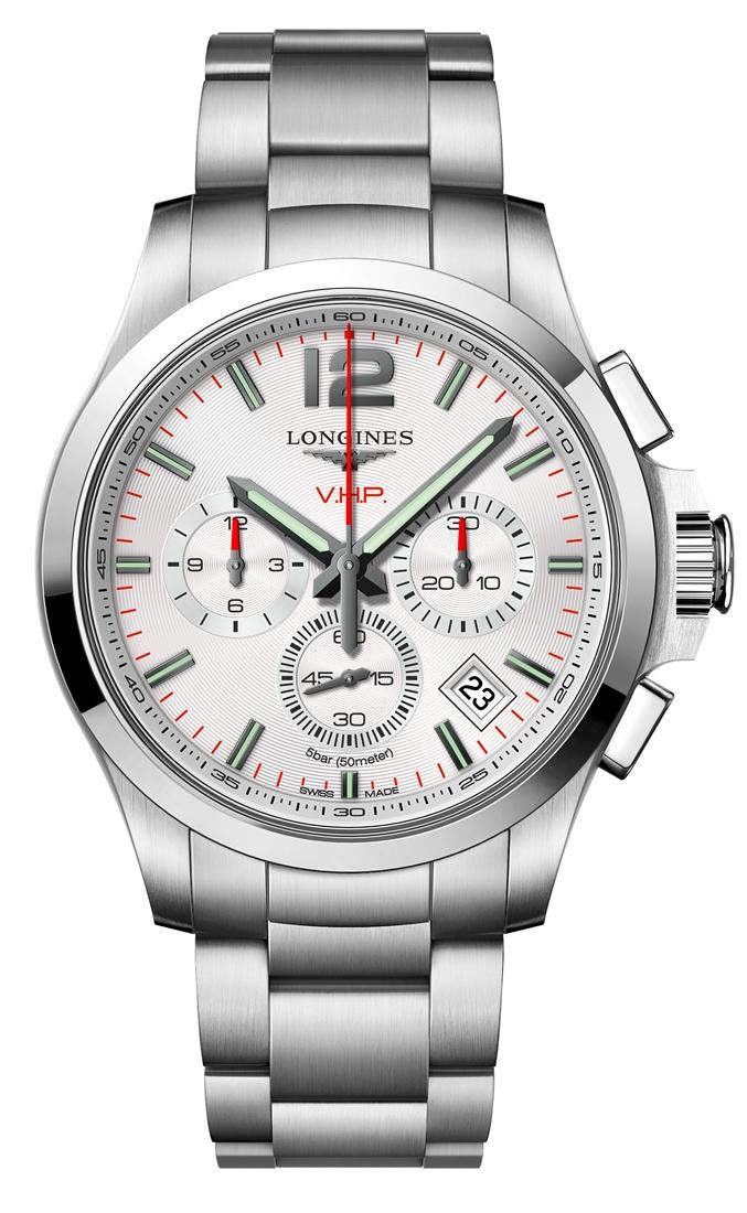 ロンジン LONGINES L3.717.4.76.6 コンクエスト V.H.P. クロノグラフ 正規品 腕時計