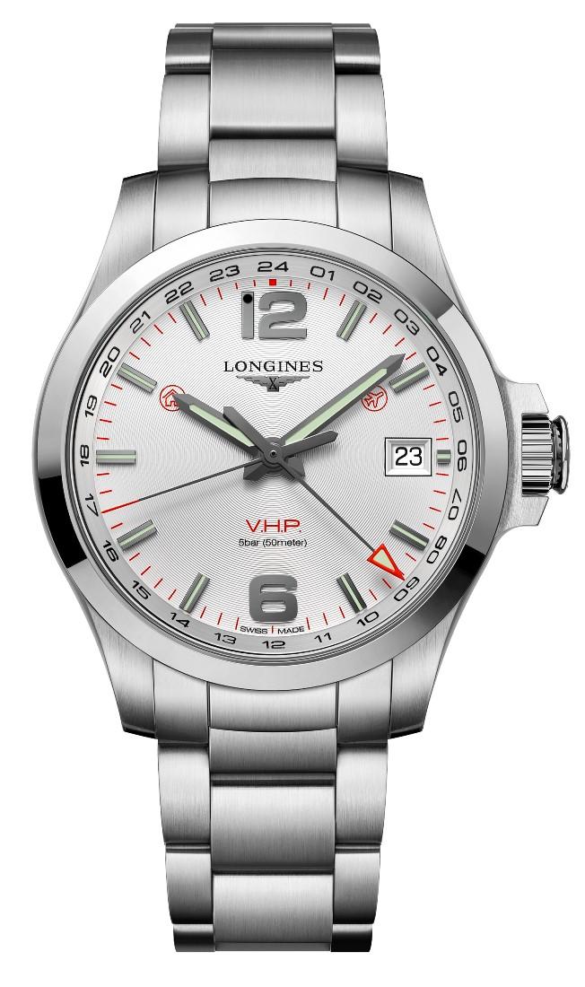 正規品 LONGINES ロンジン L3.718.4.76.6 コンクエスト V.H.P. GMT 腕時計