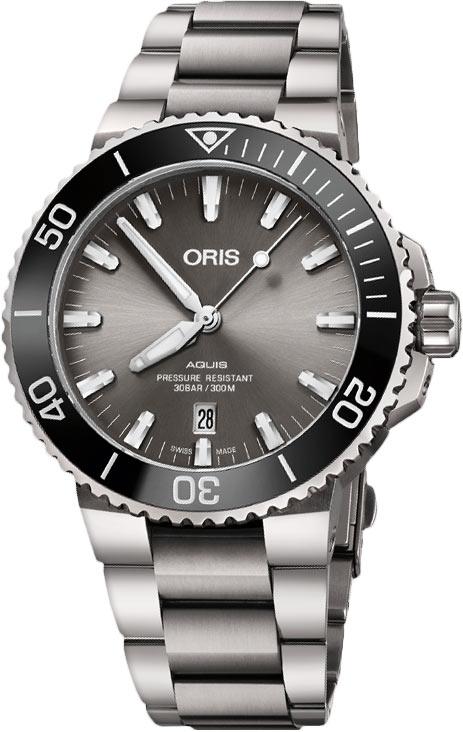 オリス ORIS 01 733 7730 7153-07 8 24 15PEB アクイス チタニウム デイト 正規品 腕時計