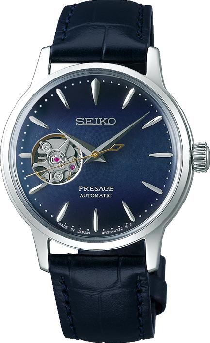 プレザージュ PRESAGE セイコー SEIKO SRRY035 ベーシックライン ミッドナイトカクテルタイム ブルームーン 正規品 腕時計