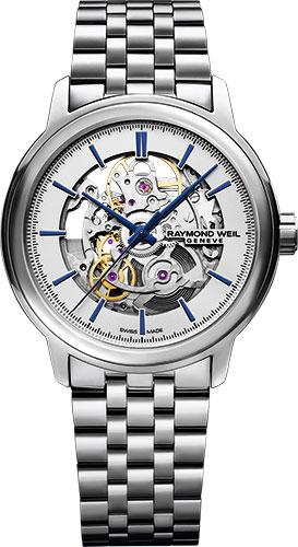 【9/30までブライダル用途でのご購入でペアマグカッププレゼント】 正規品 RAYMOND WEIL レイモンドウェイル 2215-ST-65001 マエストロ オートマチック スケルトン 腕時計