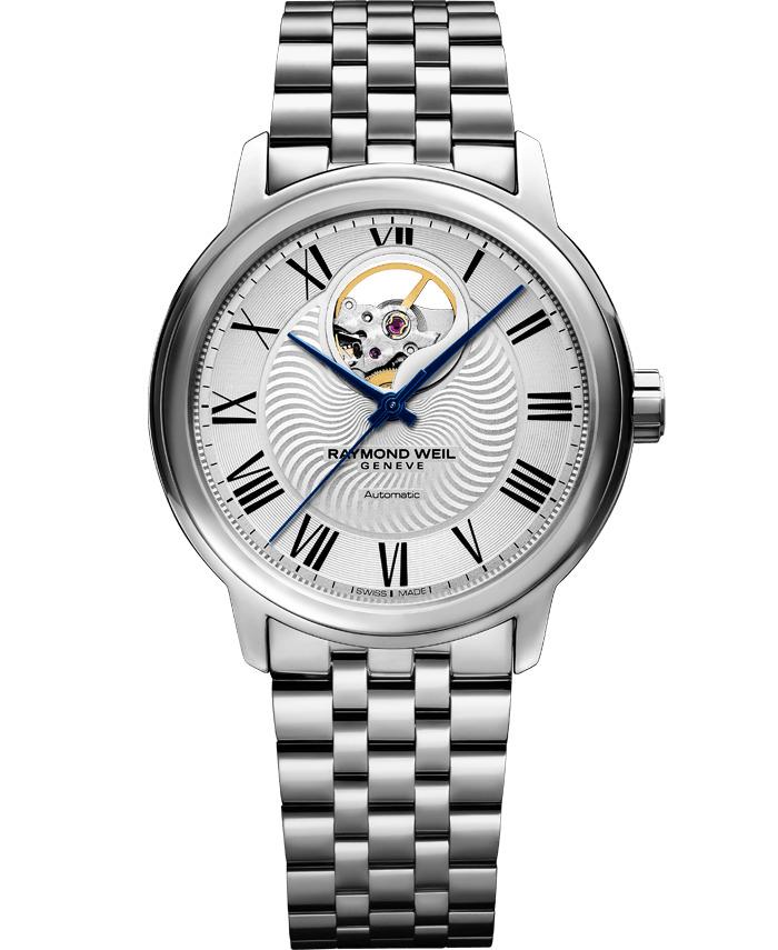 【9/30までブライダル用途でのご購入でペアマグカッププレゼント】 正規品 RAYMOND WEIL レイモンドウェイル 2227-ST-00659 マエストロ オートマチック オープンハート 腕時計