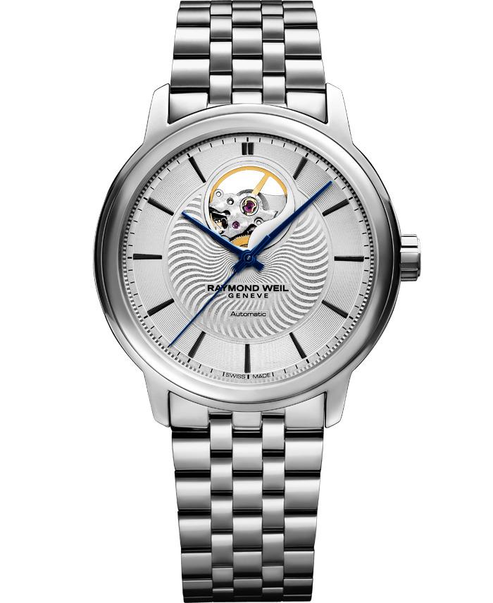 【9/30までブライダル用途でのご購入でペアマグカッププレゼント】 正規品 RAYMOND WEIL レイモンドウェイル 2227-ST-65001 マエストロ オートマチック オープンハート 腕時計