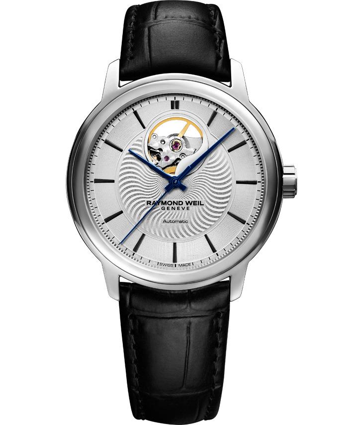 【9/30までブライダル用途でのご購入でペアマグカッププレゼント】 正規品 RAYMOND WEIL レイモンドウェイル 2227-STC-65001 マエストロ オートマチック オープンハート 腕時計