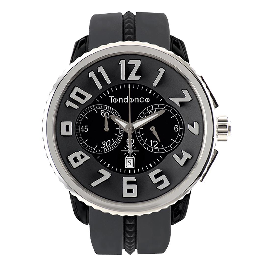 【今ならオーバーサイズノートプレゼント】 テンデンス Tendence TG046013 ガリバー ラウンド クロノグラフ 正規品 腕時計