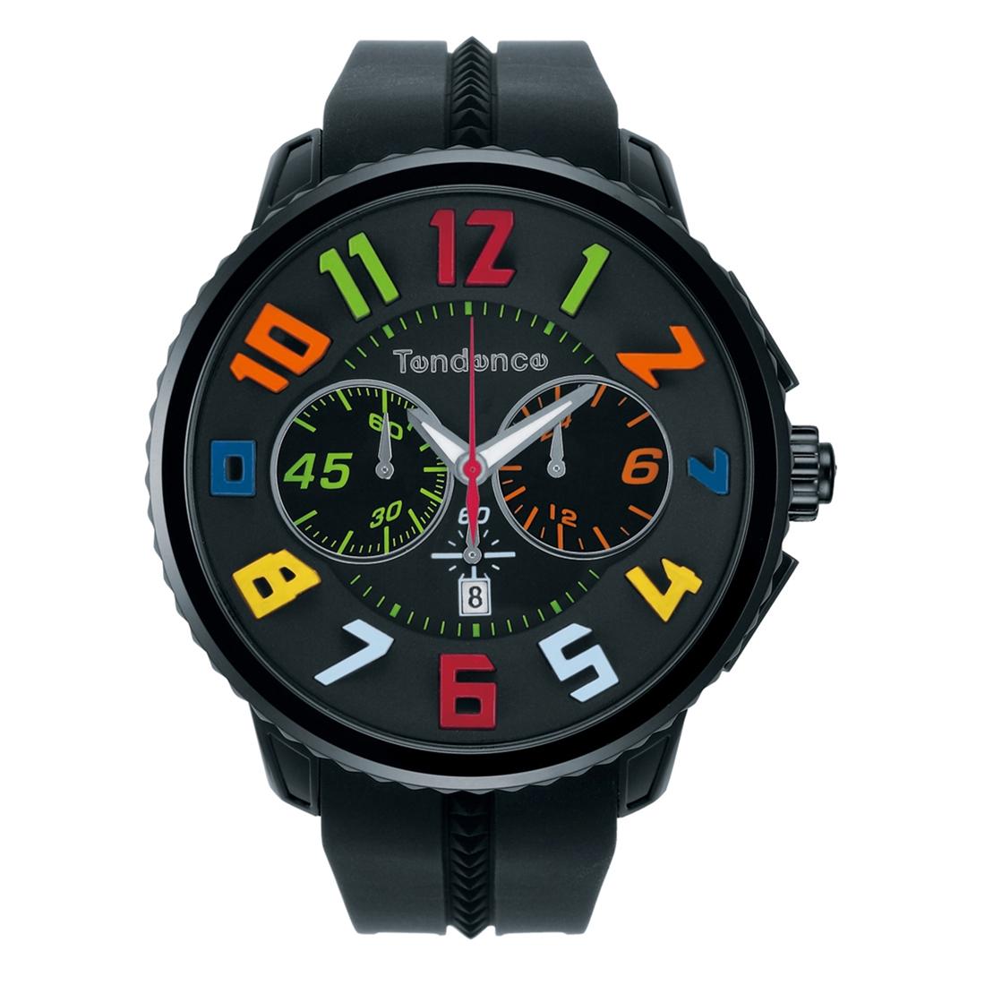 【今ならオーバーサイズノートプレゼント】 テンデンス Tendence TY460610 ガリバー ラウンド レインボー クロノグラフ 日本限定モデル 正規品 腕時計