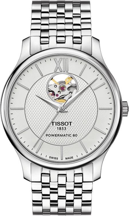 ティソ TISSOT T063.907.11.038.00 トラディション オートマチック オープンハート 正規品 腕時計