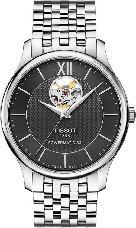 ティソ TISSOT T063.907.11.058.00 トラディション オートマチック オープンハート 正規品 腕時計