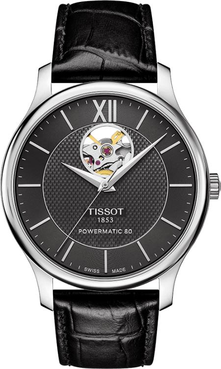 ティソ TISSOT T063.907.16.058.00 トラディション オートマチック オープンハート 正規品 腕時計