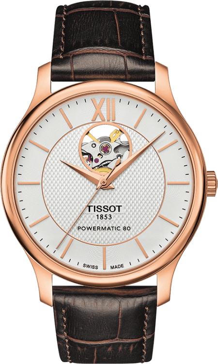 正規品 TISSOT ティソ T063.907.36.038.00 トラディション オートマチック オープンハート 腕時計