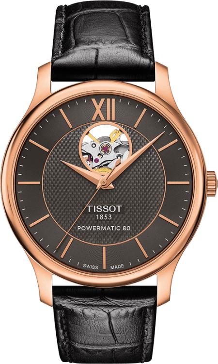 ティソ TISSOT T063.907.36.068.00 トラディション オートマチック オープンハート 正規品 腕時計
