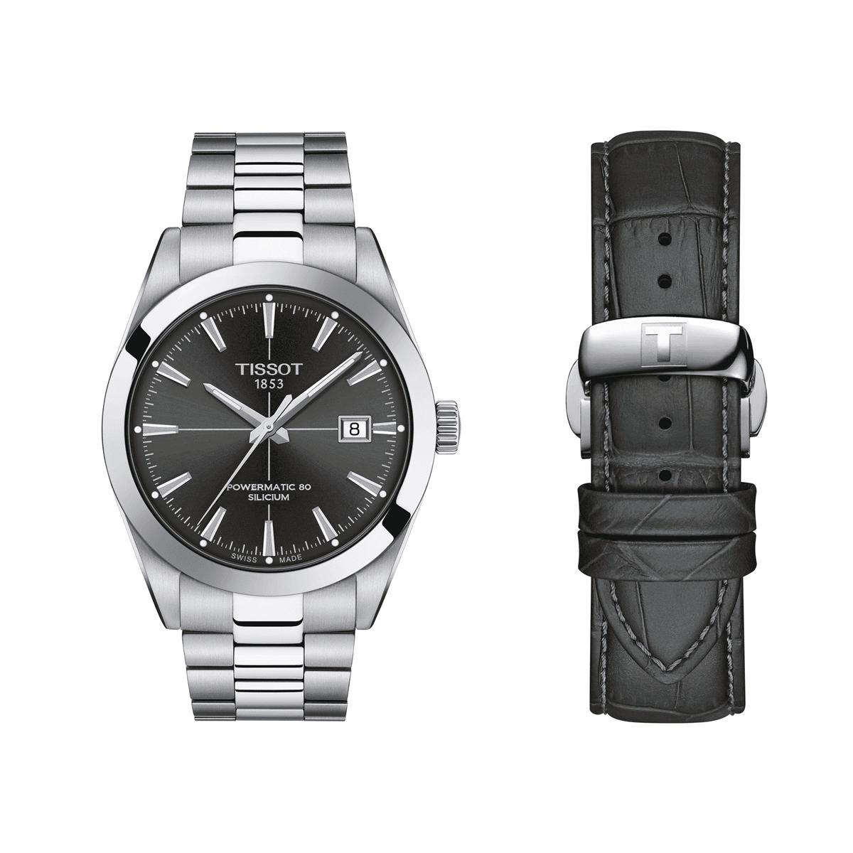 即納送料無料! 正規品 送料無料 機械式 メンズ ティソ TISSOT T127.407.11.061.00 シリシウム ジェントルマン 格安 日本限定500本 パワーマティック80 腕時計